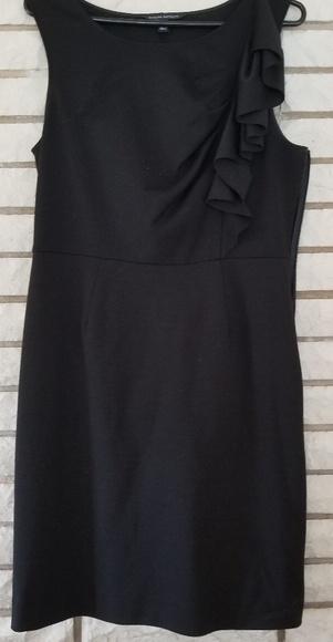 Banana Republic Dresses & Skirts - Banana Republic black dress with shoulder ruffle 6